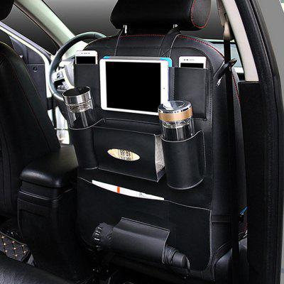 PU Leather Car Back Seat Storage Bag Pocket Phone Pad Cup Holder