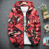 New Man Fashion Camouflage Thin Spring Autumn Casual Hooded Jacket Coat T0273 - RED