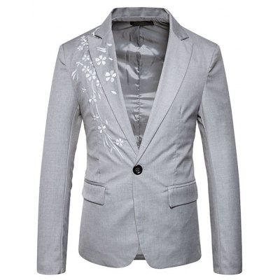 New Man Fashion Embroidery Full Sleeve Notched Spring Winter Blazer T0279