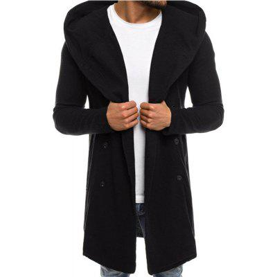 New Fashion Man Solid Spring Winter Full Sleeve Hooded Coat Outerwear T0284