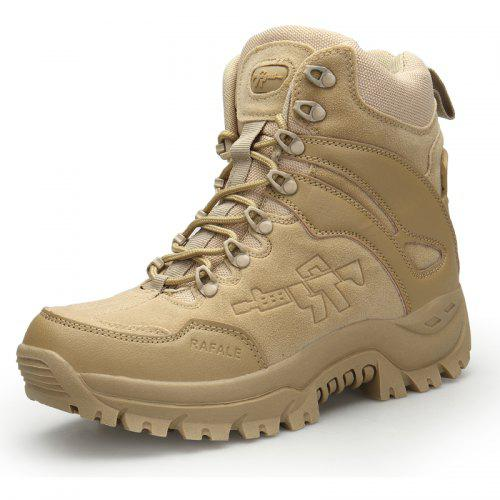 0fd51a91f Outdoor Hiking Shoes Men s Desert High-Top Military Tactical Boots ...