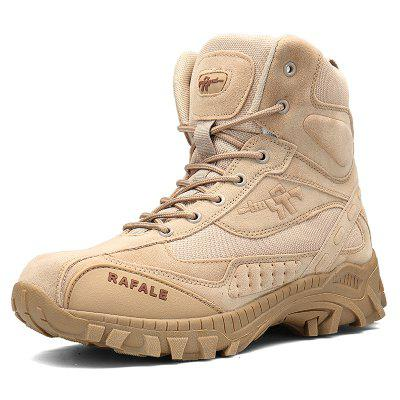 Men's Breathable Ankle Boots Men Army Desert Combat Boots