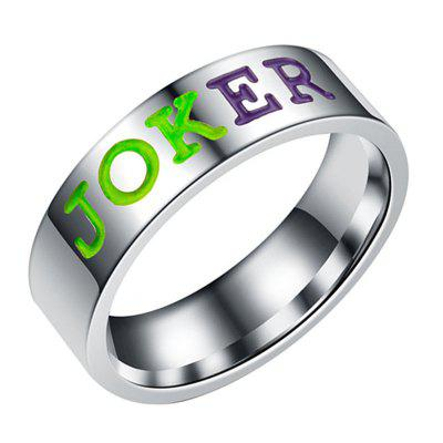 Comics The Lover Couple Stainless Steel Rings Gift
