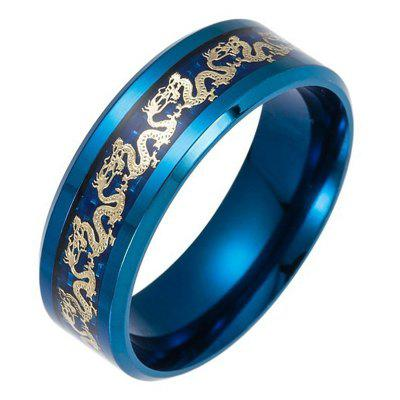 Fashion Black Dragon Tungsten Carbide Titanium Steel Wedding Rings