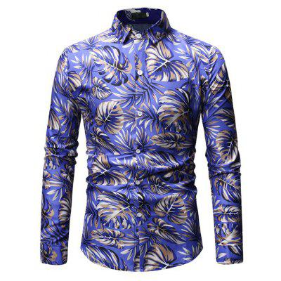2019 New Foreign Trade Men'S Casual Large Size Men'S Shirt