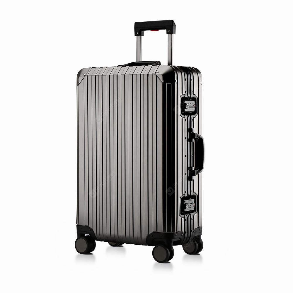 MATOM High - Class Business Aluminum - Magnesium Alloy Suitcase - Cloudy Gray 51CM*20CM*31CM