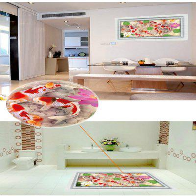 3D Fish Wall Sticker Removable PVC Full Color Decal Waterproof wholesale murals