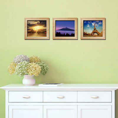 3D driedimensionale frame landschap creatieve drieluik sticker sticker Decor