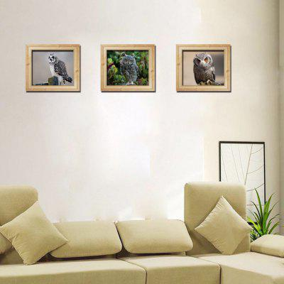 3D Envelope Version of The Three-Dimensional Photo Frame Owl Wall Sticker