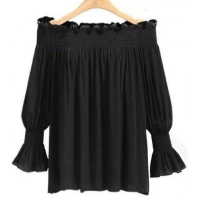 Women's Plus Size Loose Chiffon Blouse