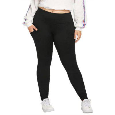 Women's Plus Size Solid Color Casual Pants