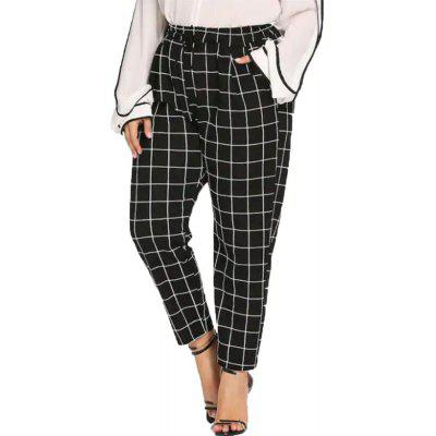 Women's Plus Size Latticed Casual Pants