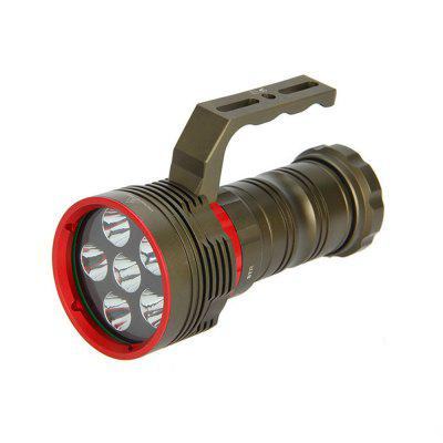 DX6 portable 6-Lamp L2 diving torch outdoor strong light charging high-power tor