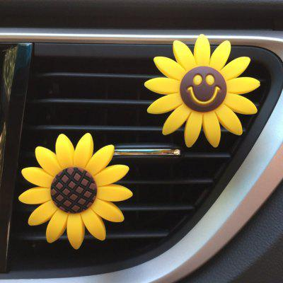 Creative Sunflower Car Outlet Perfume Clip 2 Pcs