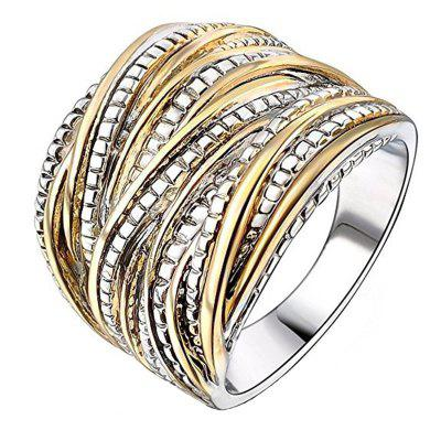 Fashion Exaggerated Two-Tone Textured Unisex Ring