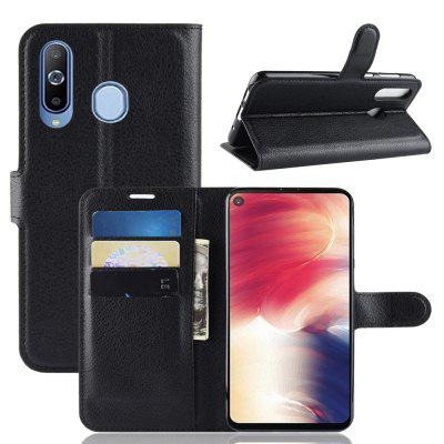 For Samsung Galaxy A8S Card Protection Leather Cover Case