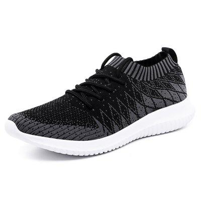 Men'S Large Ultra-Light Leisure Flying Weaving Sports Shoes
