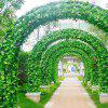 220CM Artificial Leaf Garland Plants Vine Wedding Party Foliage Home Decor - SHAMROCK GREEN