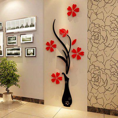 3d Vase Wall Murals for Living Room Bedroom Sofa Backdrop Tv Wall Sticker