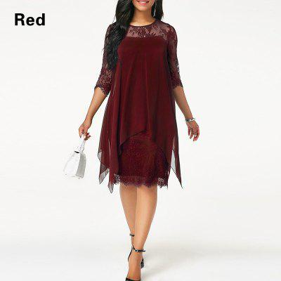 Plus Size Chiffon Dresses Women New Fashion Chiffon