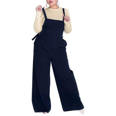 Spring and Summer Casual Large Size Loose Elegant Female Long Jumpsuit Overalls
