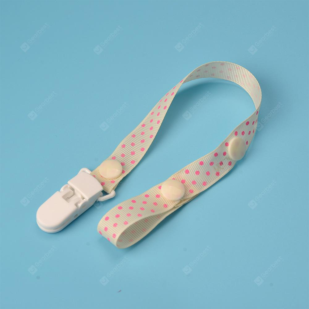 Baby's Pacifier Chain Candy Color Dotted Pattern Anti-Lost Chain