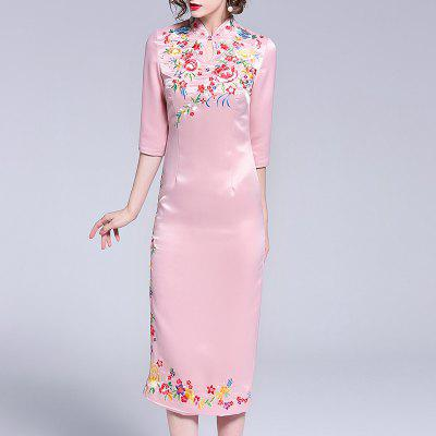 Women'S New High-End Atmosphere in Spring and Summer Embroidery Dress
