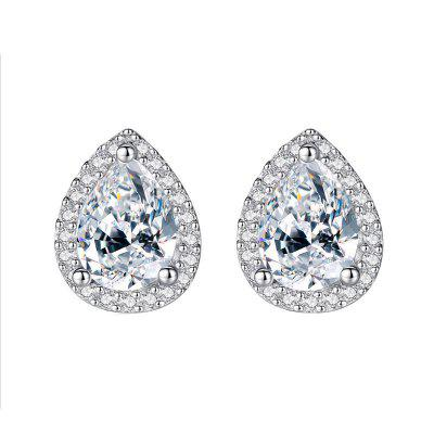 Fashion Creative Micro-Encrusted Diamond Drop Earrings