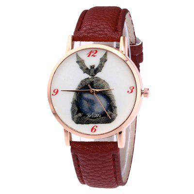 Simple Personality Bat Print Quartz Strap Watch