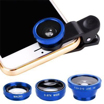 3 in 1 Clip-On Cell Phone Camera Lens Kit