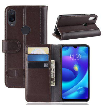 For Xiaomi Play Protective Wallet Genuine Leather Flip Case