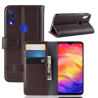 Genuine Leather Flip Case for Xiaomi Redmi Note7 Protective Wallet