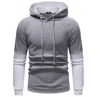 Foreign Trade Hot Men'S Sweaters Casual Large Size Fake Two-Piece Design Sweater