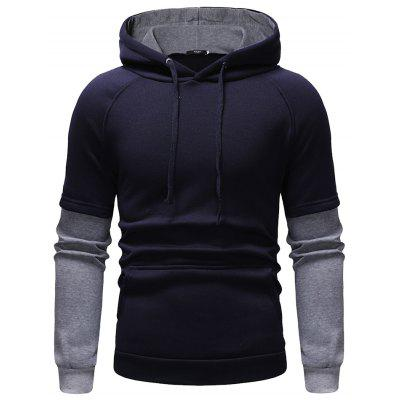 Foreign Trade Hot Men Sweaters Casual Large Size Fake Two-Piece Design Sweater
