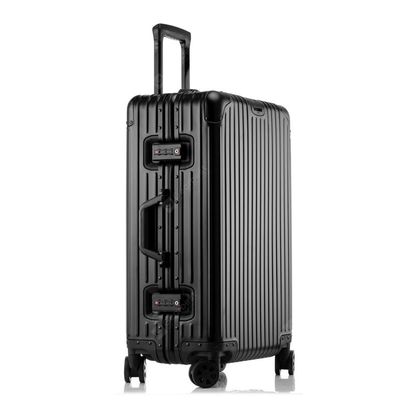 MATOM Diamond All Aluminum Magnesium Alloy Suitcase - Black 30CM x 20CM x 50CM