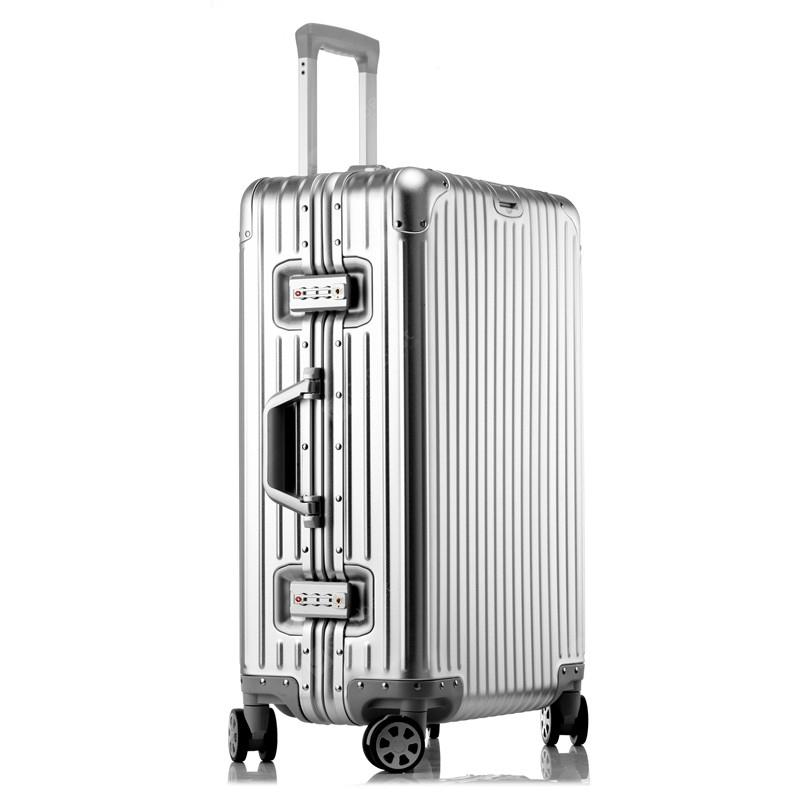 MATOM Diamond All Aluminum Magnesium Alloy Suitcase