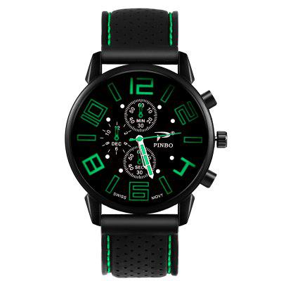 Fashion Casual Quartz Analog Silicone Stainless Steel Dial Sports Watches