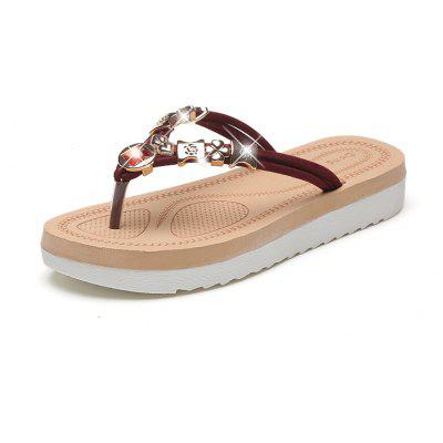 Leisure Fashion Ladies Sandals With Pin Toe Beach Water Drill