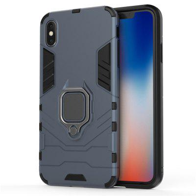 For iPhone XS Max Case Slim Ring Coque Armor Magnetic Attraction Anti-Knock