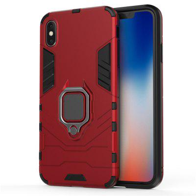 Dla iPhone XS Max Case Slim Pierścień Coque Armor Magnetic Attraction Anti-Knock