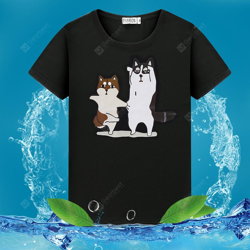 2019 Summer New Cartoon Print Fashion Men'S Round Neck T-Shirt