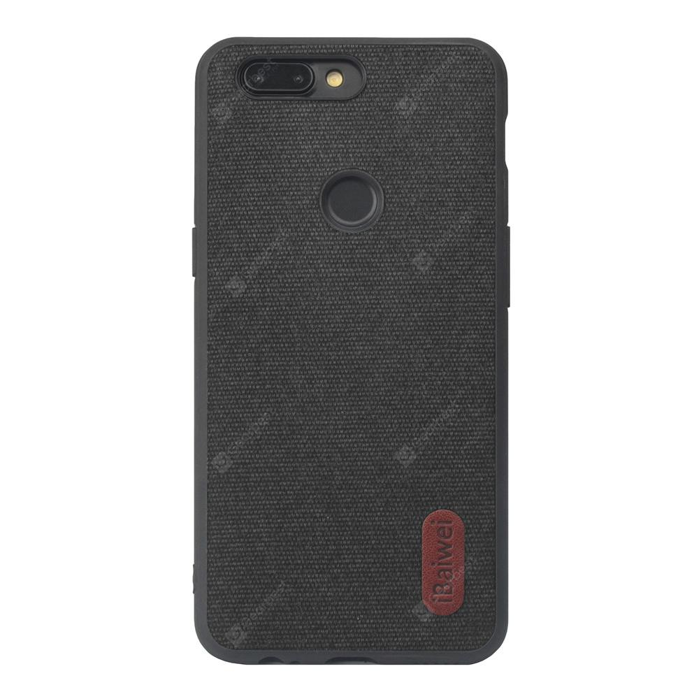 competitive price 6d10f 1a1d4 High Quality PU Cloth Fabric Anti-Fall TPU Case for onePlus 5T