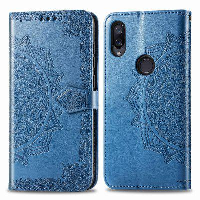 Datura Embossing PU Leather Wallet Stand Case for Xiaomi Redmi Note 7