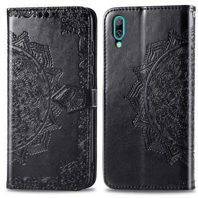 Datura Embossing PU Leather Wallet Ständer Case für Huawei Enjoy 9