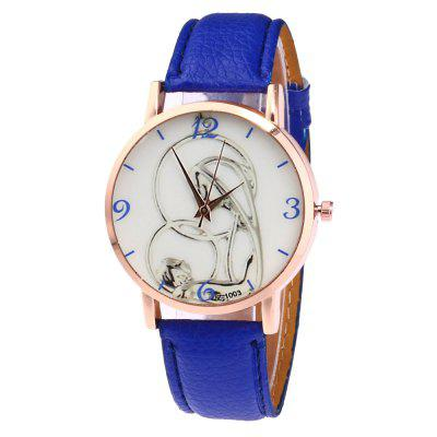 Simple Personality Printed Pattern Dial Casual Belt Watch