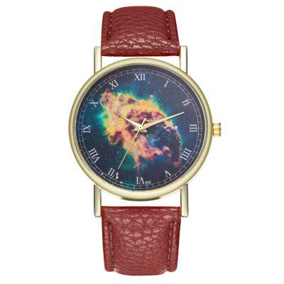 Casual Personality Starry Print Quartz Watch