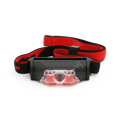 ZHISHUNJIA Mini Headlamp White LED + Red LED Headlamp Warning Light