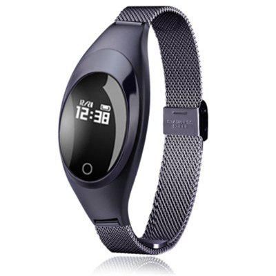 V6 Z18 Fashion Blood Pressure Heart Rate Monitor Step Message Push Smart Watch Image