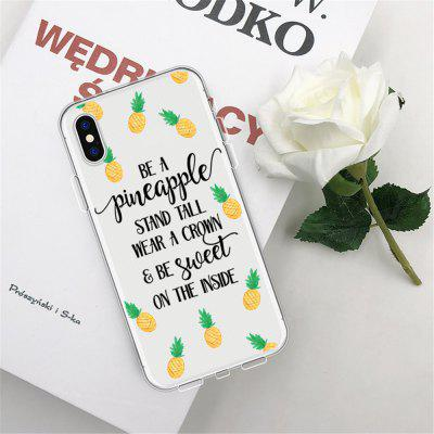 Text Pineapple TPU Wear Proof Soft Protective Case for iPhone XS MAX