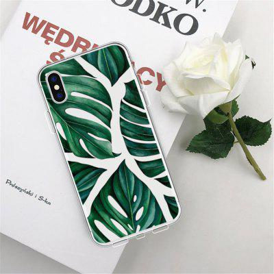 Tortoise Back Bamboo Leaf TPU Wear Proof Soft Protective Case for iPhone X